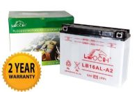 Leoch YB16ALA2 - Dry Charged Motorcycle Battery + Acid Pack